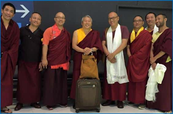 of giving was experienced by everyone who attended. His Eminence Kyabje Luding Khen Rinpoche departed Australia
