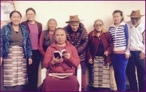 Khenpo la and His Family in Nepal Losar Wood Sheep Year 2142 Hello from Kathmandu, Nepal.