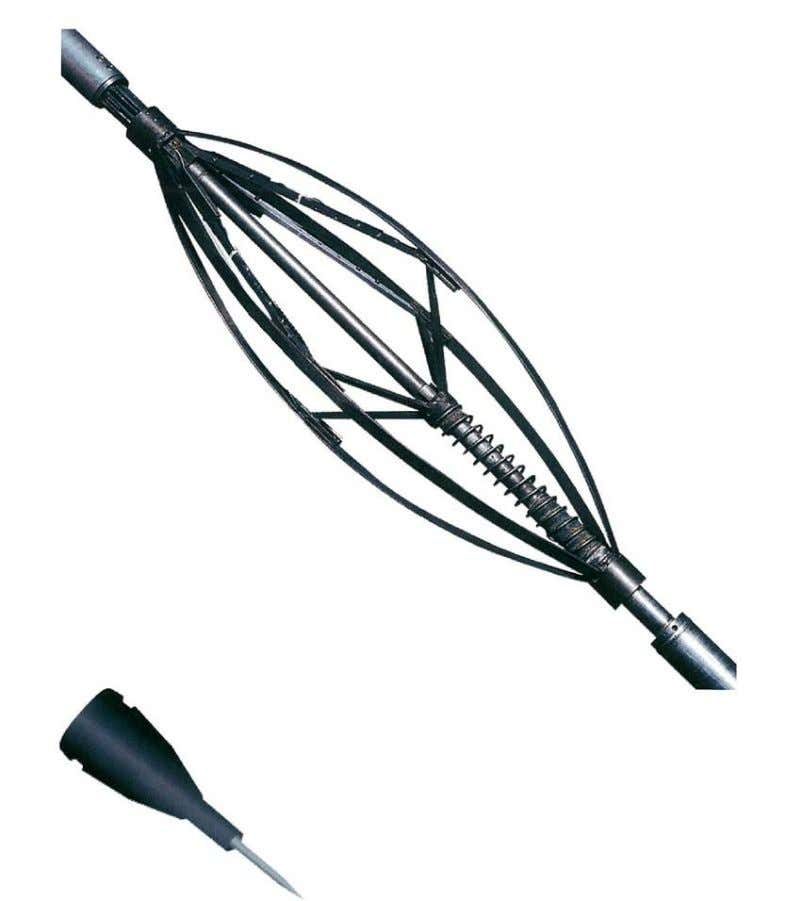 55 Fig. 36 Array of Capacitance Probes Attached to Centralizer Bands Each probe will send signals