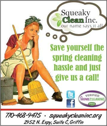 Save yourself the spring cleaning hassle and just give us a call! 770-468-9475 · squeakycleaninc.org