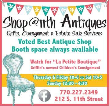 Shop@11th Antiques Gifts, Consignment & Estate Sale Services Voted Best Antique Shop Booth space always