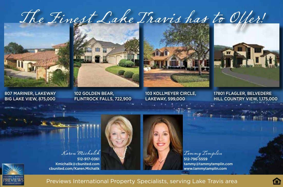 The Finest Lake Travis has to Offer! 807 MARINER, LAKEWAY BIG LAKE VIEW, 875,000 102
