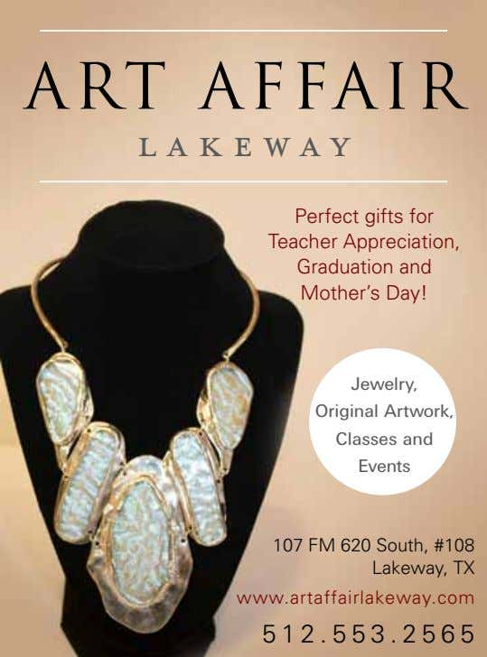 ART AFFAIR LAKEWAY Perfect gifts for Teacher Appreciation, Graduation and Mother's Day! Jewelry, Original