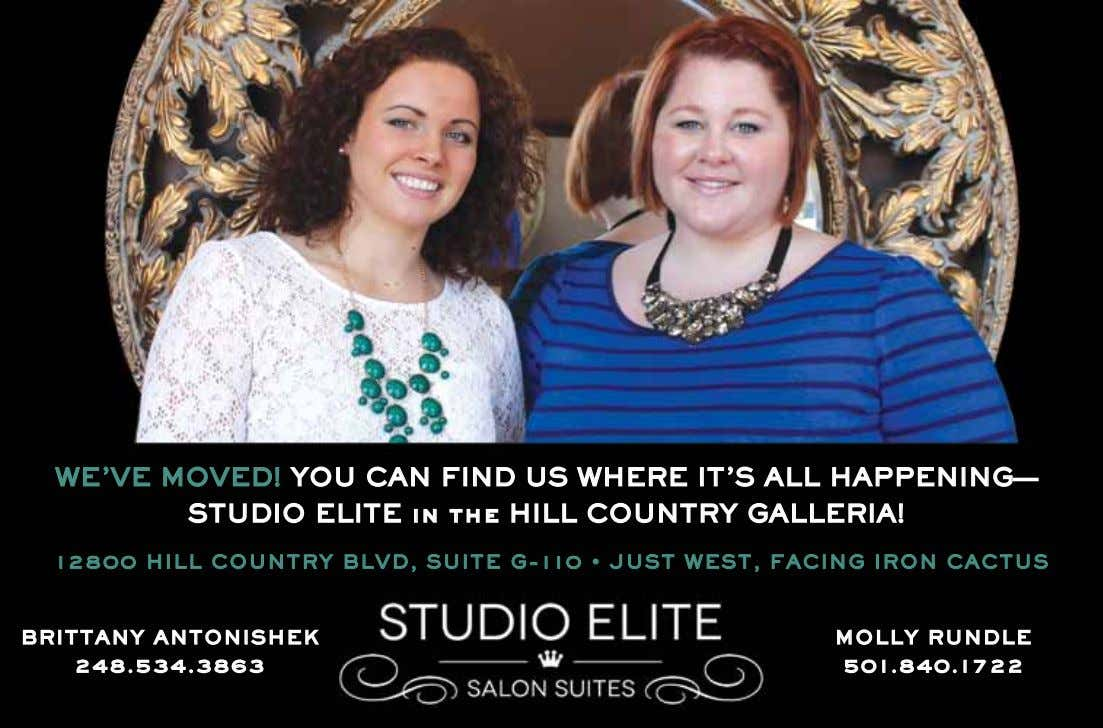 WE'VE MOVED! YOU CAN FIND US WHERE IT'S ALL HAPPENING— STUDIO ELITE in the HILL