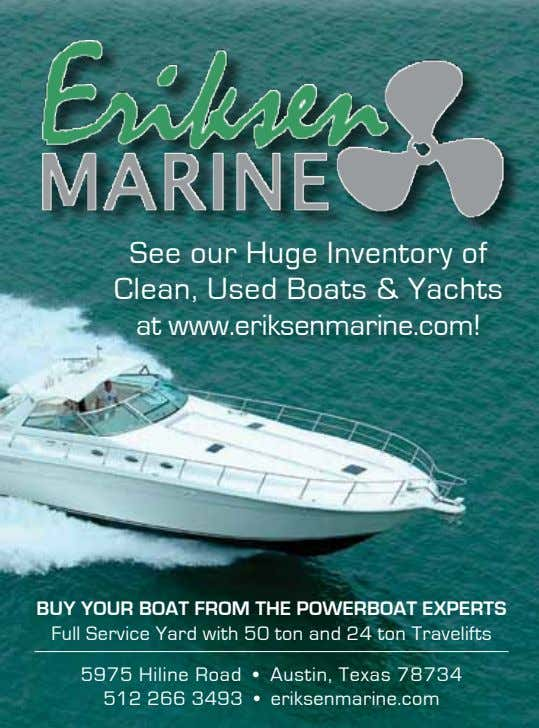 See our Huge Inventory of Clean, Used Boats & Yachts at www.eriksenmarine.com! Buy your Boat