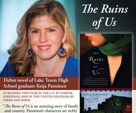 The Ruins of Us Debut novel of Lake Travis High School graduate Keija Parssinen PUBLISHED