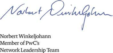 Norbert Winkeljohann Member of PwC's Network Leadership Team