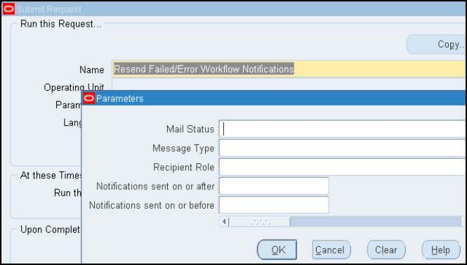 Resend notifications with a mail status of FAILED or ERROR  Make corrections first such as
