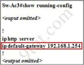 of this switch by using the show running-config command From the output, we notice that its