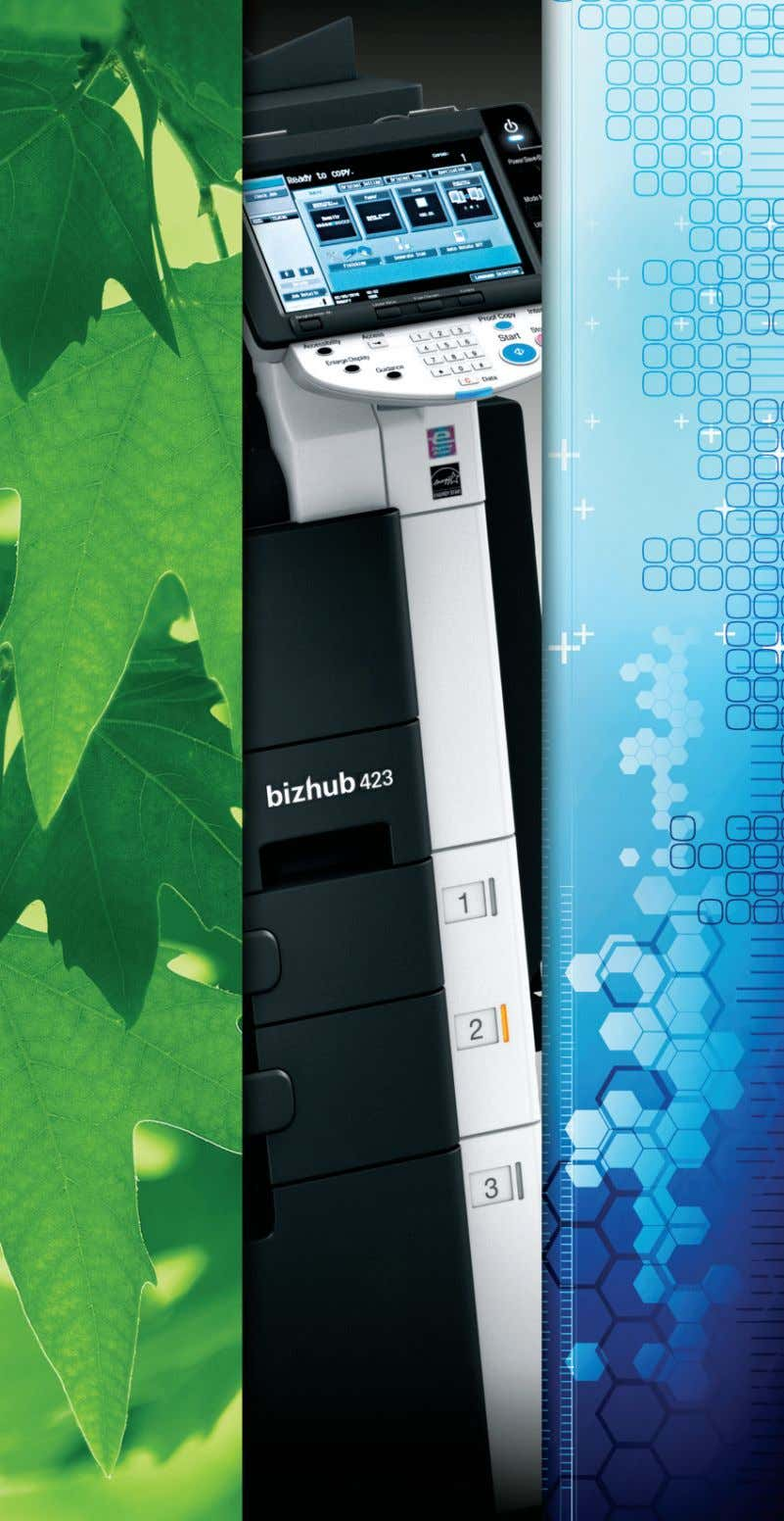 As part of Konica Minolta's efforts towards preserving the environment, this e-brochure is intended for