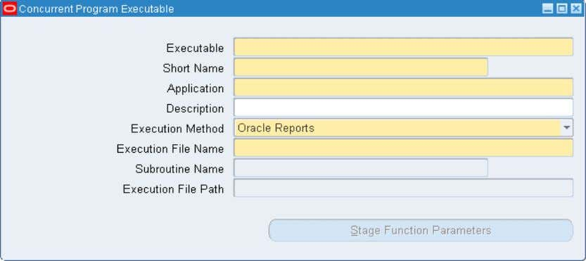 window to identify your executable to Oracle Applications. Copyright © 2010, Oracle and/or its affiliates. All