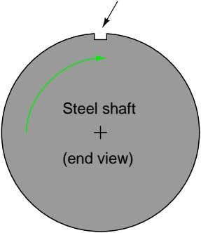 Steel shaft (end view)