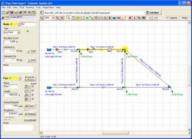 instructions for using the Pipe Flow Expert application. Menu Bar Figure 2 Pipe Flow Expert interface