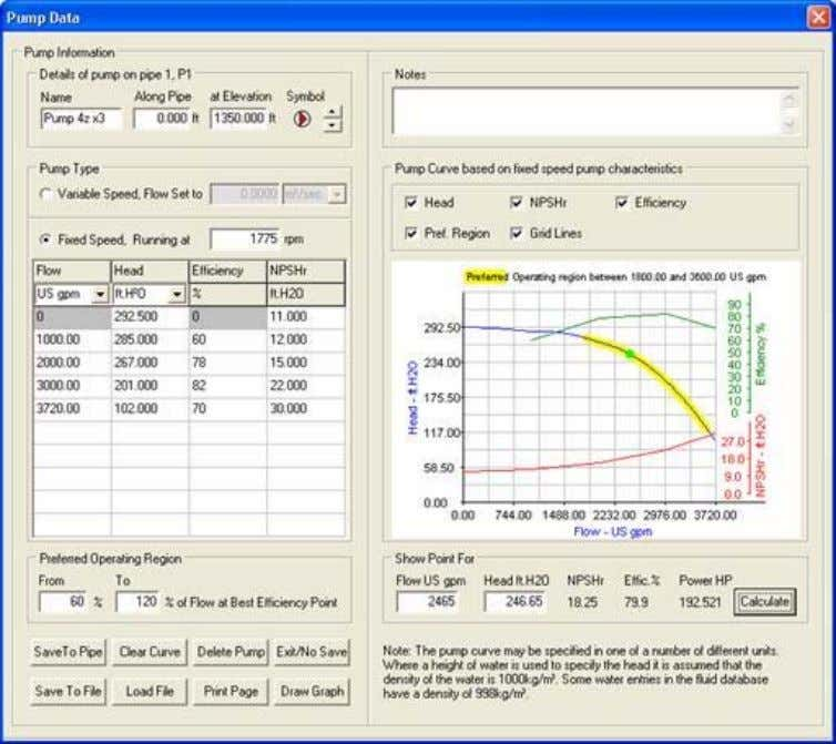 Interface and Menus Pag e 18 of 26 Figure 22 Pipe Data dialog Feature Descrip tion