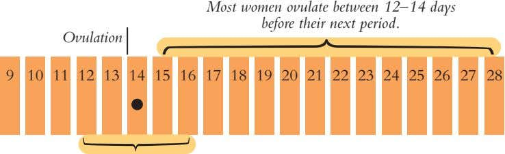 Most women ovulate between 12–14 days before their next period. Ovulation 9 10 11 12