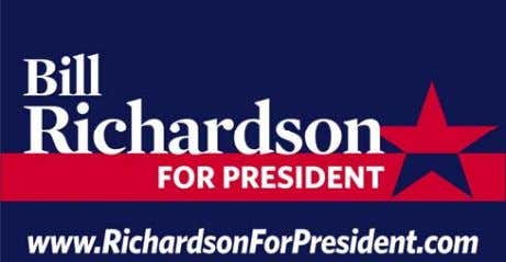 """JOB INTERVIEW"" RICHARDSON FOR PRESIDENT SUPPORTING DOCUMENTS ATTACHMENT 1: Richardson touts unique qualifications"