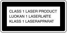 1 LASER PRODUCT MARKING is located on the rear exterior. Laser component in this product is