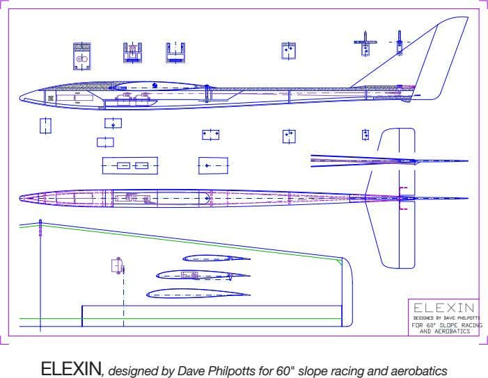 "ELEXIN, designed by Dave Philpotts for 60"" slope racing and aerobatics"