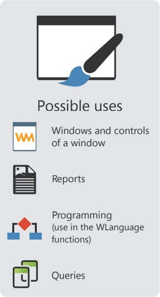 Possible uses Windows and controls of a window Reports Programming (use in the WLanguage functions)