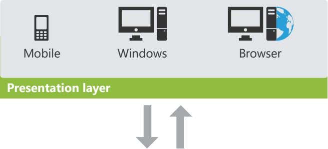 Mobile Windows Browser Presentation layer