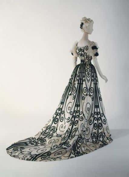 5: Vestido de noite , 1898-1900 – House of Worth - Silk Fonte: The Metropolitan Museum