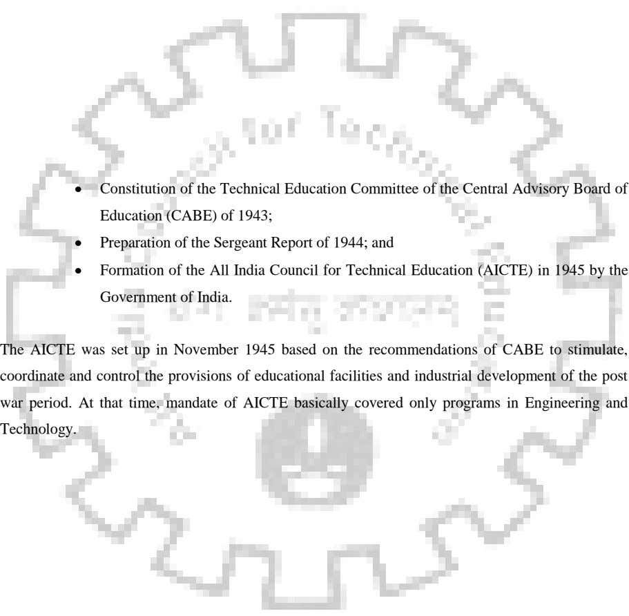 Constitution of the Technical Education Committee of the Central Advisory Board of Education (CABE) of