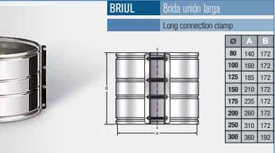 BRIUL Brida unión larga Long connection clamp A B 80 140 172 100 160 172