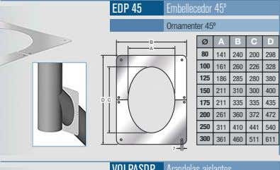 EDP 45 Embellecedor 45º Ornamenter 45º B A B C D A 80 141 240