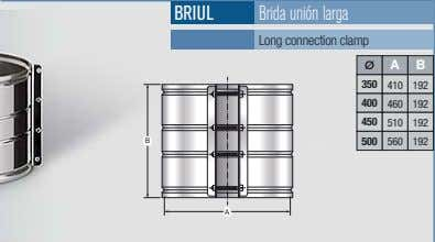 BRIUL Brida unión larga Long connection clamp A B 350 410 192 400 460 192