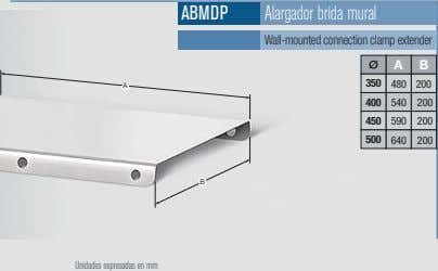 ABMDP Alargador brida mural Wall-mounted connection clamp extender A B 350 480 200 A 400