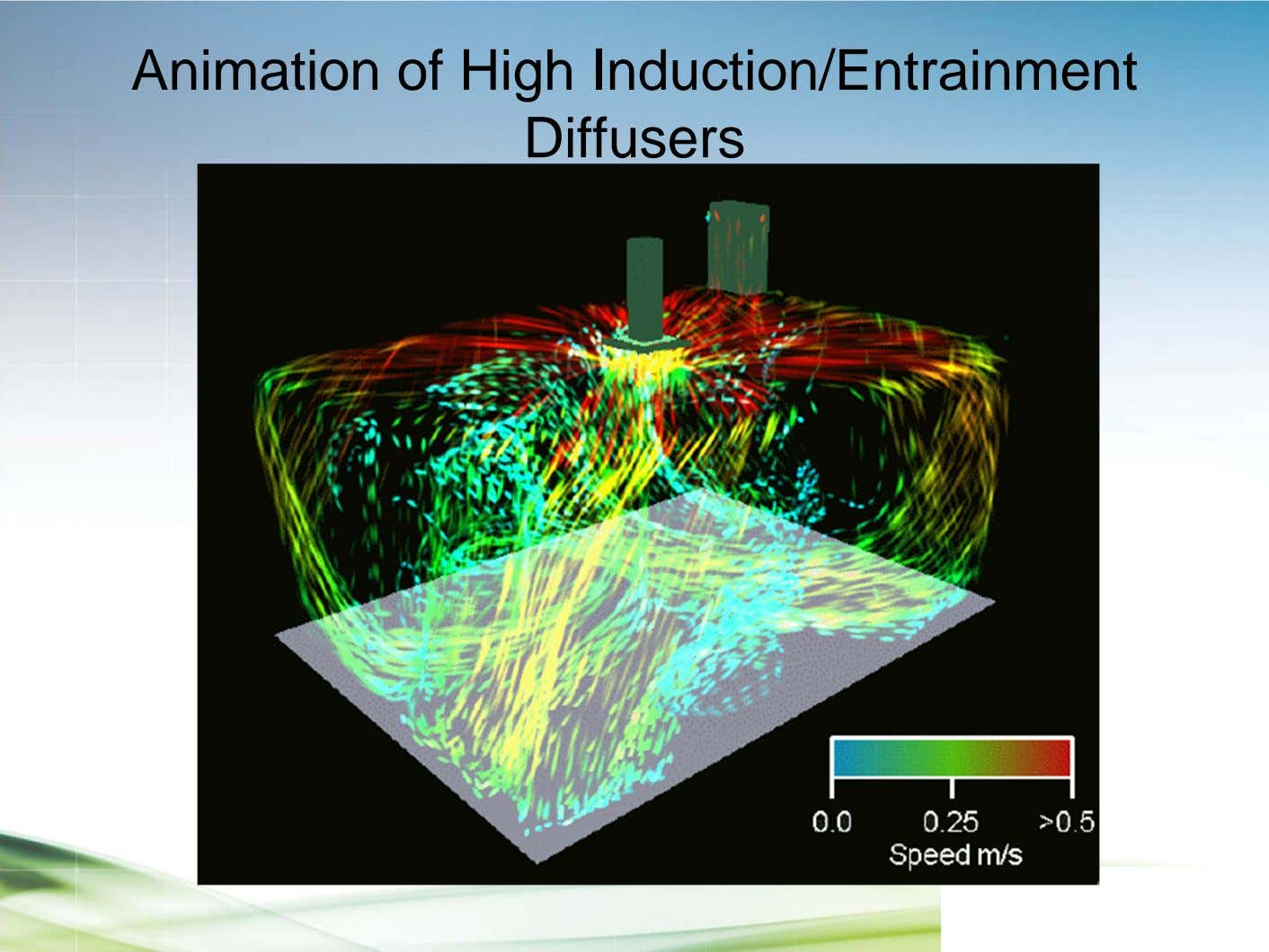 Animation of High Induction/Entrainment Diffusers