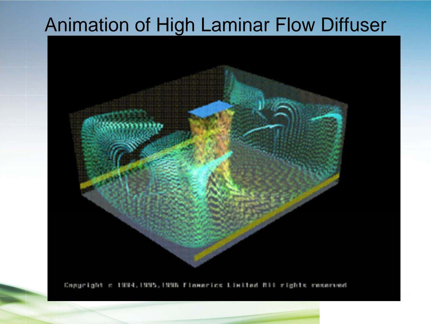 Animation of High Laminar Flow Diffuser