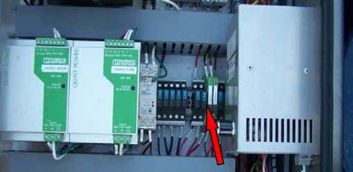 An example of the location of this breaker is shown below. This breaker MUST be opened