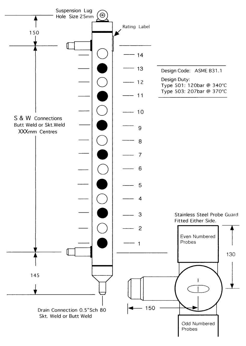 FIG 2.1 Side Arm Water Column 9