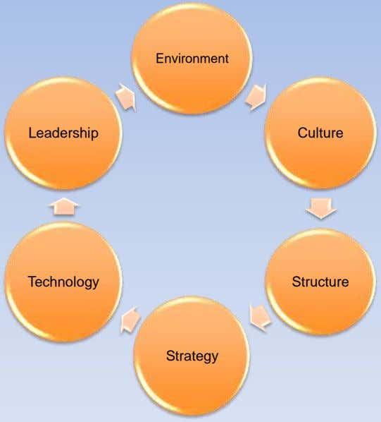 Environment Leadership Culture Technology Structure Strategy