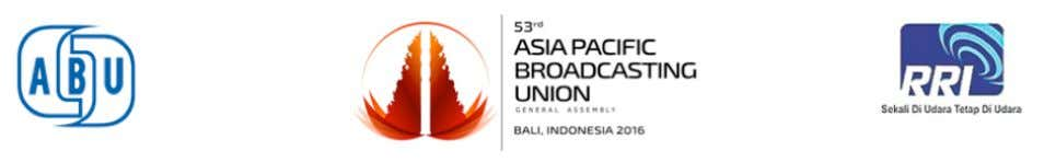 ABU Technical Committee Meeting 21-22 October 2016 Bali, Indonesia Doc T-16/20-11 STATUS REPORT Organisation: TRT,
