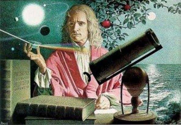 Sir Isaac Newton Newton derived the law of gravitation between two masses. Since the Sun was
