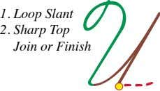 1. Loop Slant 2. Sharp Top Join or Finish