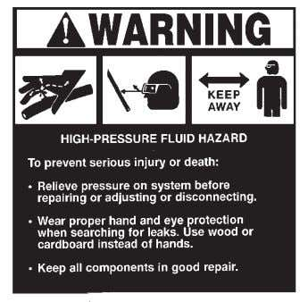 #40257 PART #40257 IMPORTANT PART #40440 CALL BEFORE YOU DIG PART #40151 WARNING! HIGH PRESSURE FLUID