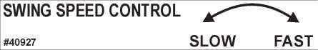 CONTROLS DECAL PART #40926 BOOM LOCK PART #40092 BRADCO LOGO PART #40927 SWING SPEED CONTROL PART