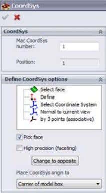 direction of the X- and Y-axes. Select Coordinate System This method enables you to choose the