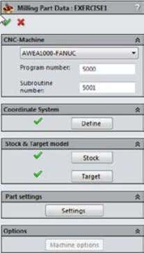 data Confirm the Milling Part Data dialog box by clicking . The Milling Part Data dialog