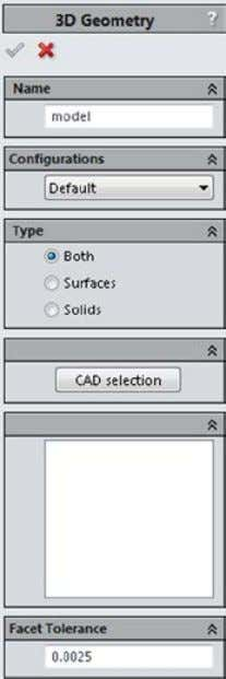 objects in the list, click Unselect all . solids will be Click on the solid model