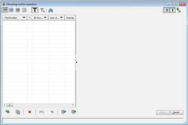 dialog box with the Part Tool Table is displayed. The Part Tool Table contains all tools