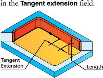 in the Tangent extension field. Tangent Extension Length