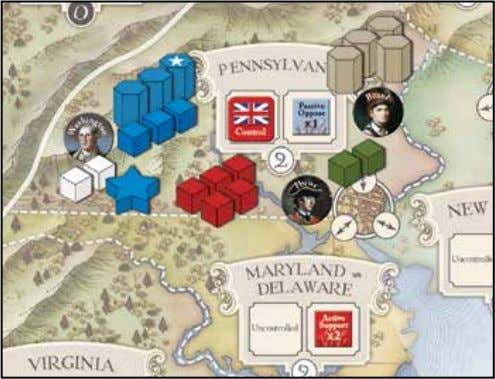 modifiers for the side taking the losses. Battle Example British Attacking in Pennsylvania The British execute