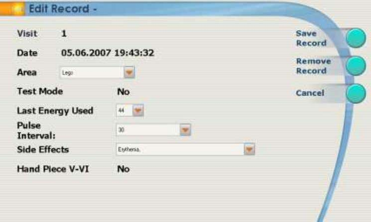 CHAPTER 4 4. To edit a patient's profile, select Edit Record and change any details as
