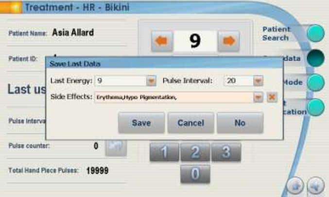 "OPERATION AND TREATMENT PROTOCOLS Figure 27: DB Save Treatment Data 13. Select ""Select Application"" to administer"