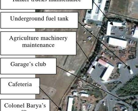 Underground fuel tank Agriculture machinery maintenance Garage's club Cafeteria Colonel Barya's