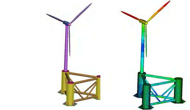Turbine Geometry Parameterization and structural analysis  Structural analysis of offshore wind turbine aiming to